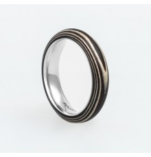Wooden Ring TM-Zebra Stripes