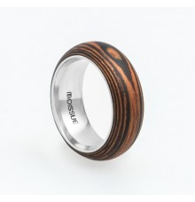Wooden Ring WM-Tiger Stripes