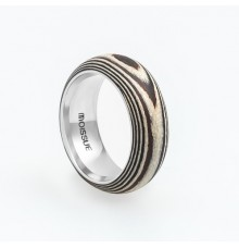Wooden Ring WM-Zebra Stripes