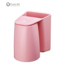 Brushing.Know-Magnetic Rinse Cup and Toothbrush Holder-Pink