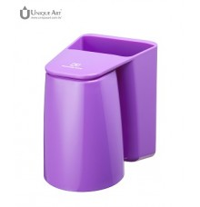 Brushing.Know-Magnetic Rinse Cup and Toothbrush Holder-Purple
